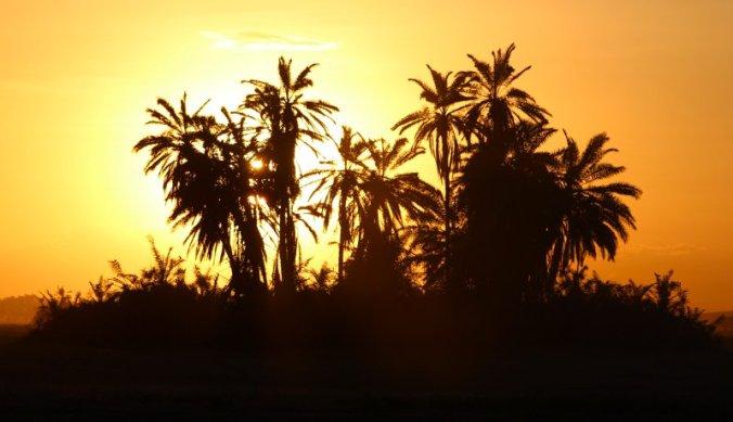 Prachtige zonsondergang in Amboseli National Park