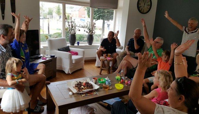 Zesde verjaardag vieren met familie in Nederland