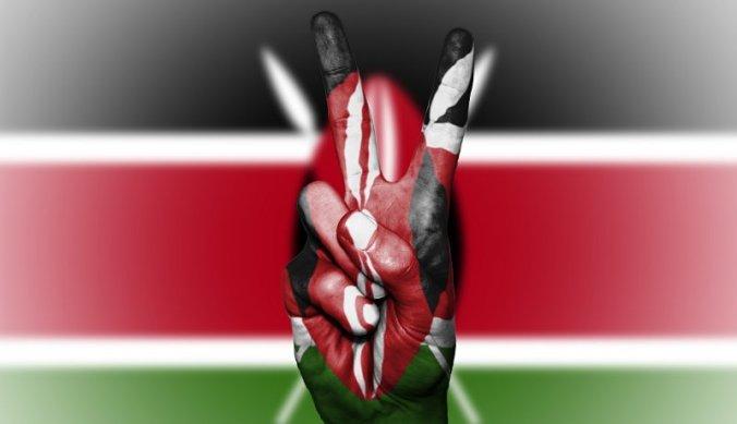 Keniaanse vlag voor vrede en veiligheid