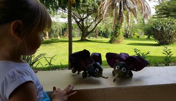 Olifanten van Tinga Tinga van groente