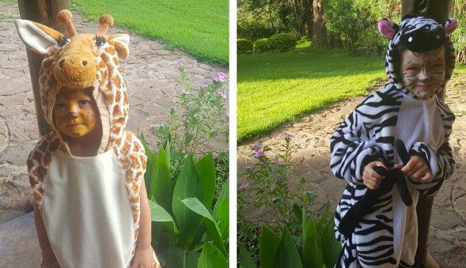 Verkleed als giraf en zebra van Tinga Tinga