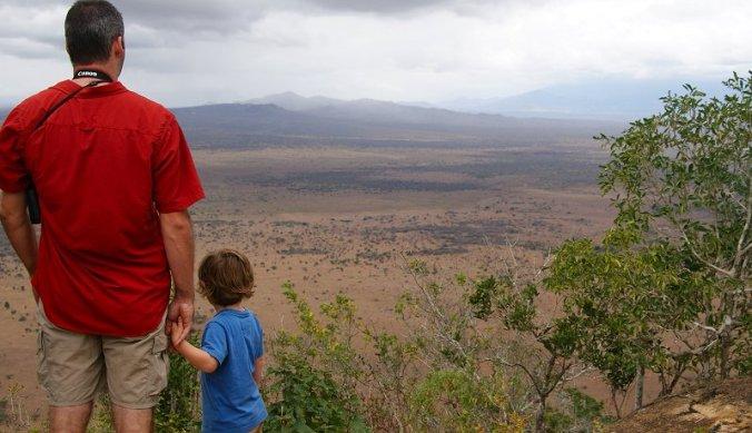 Genieten van het wijdse uitzicht over Mkomazi National Park