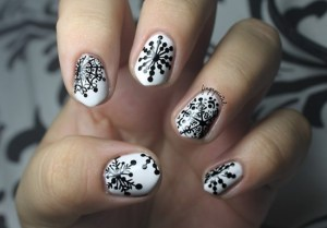 Black And White Snow Crystal Eye Catching Design