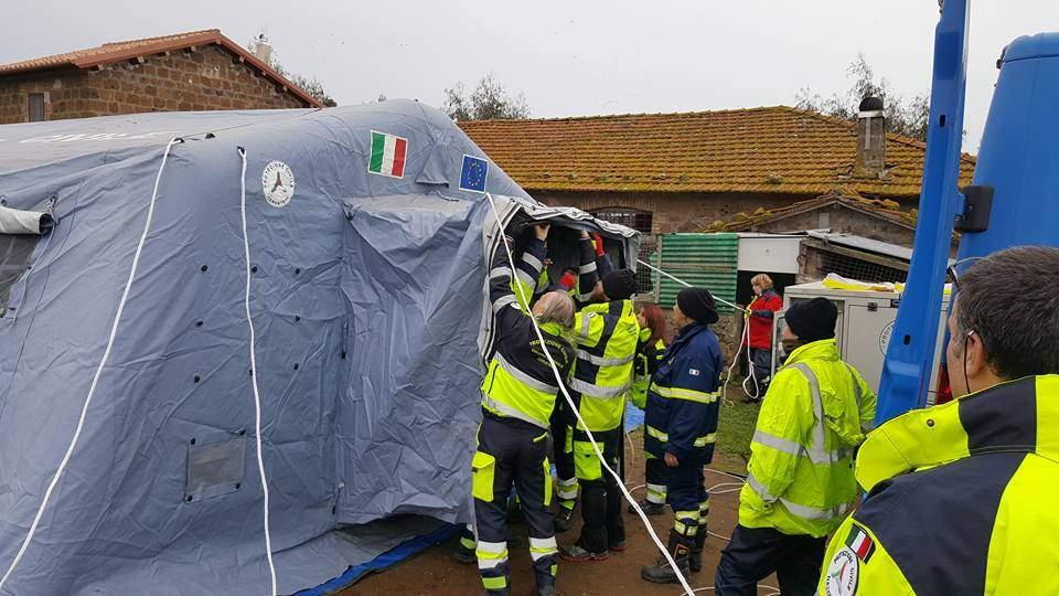 Sabato esercitazione di protezione civile a Tarquinia