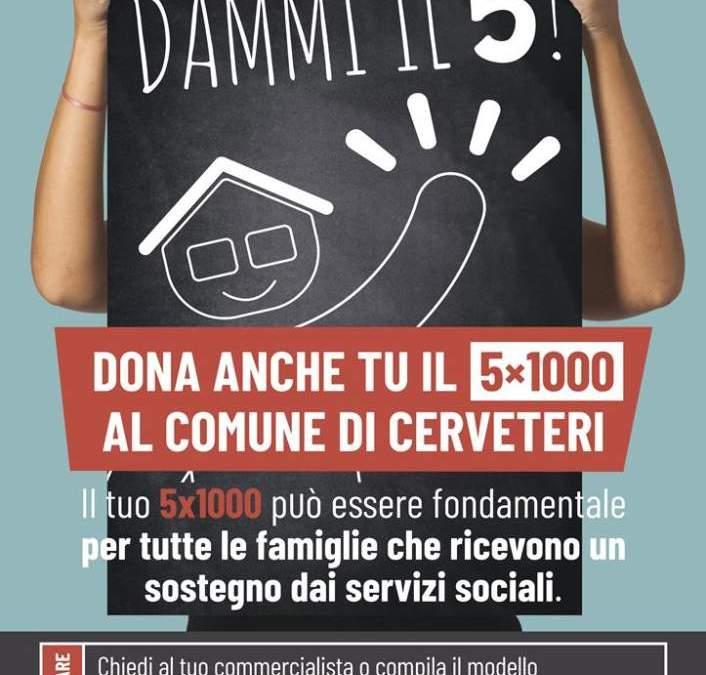 Cerveteri, dona il 5×1000 ai Servizi Sociali