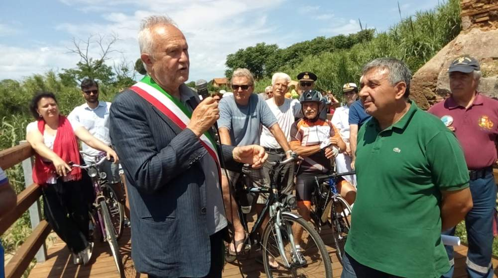 Fiumicino, inaugurata la pista ciclabile tra Parco Leonardo e Portus