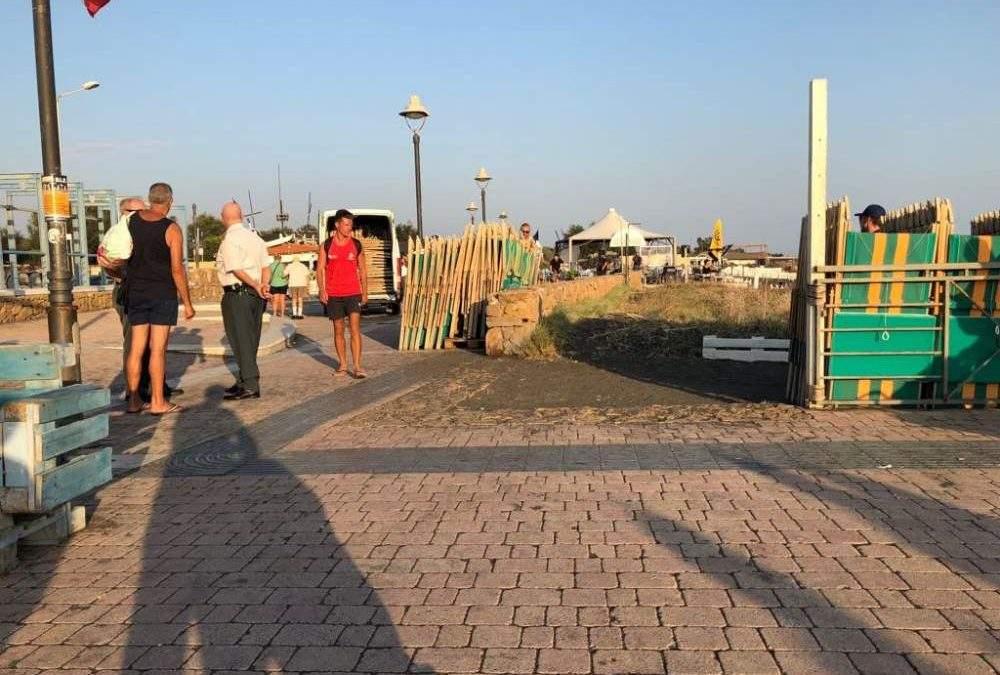 Dissequestrati lettini e ombrelloni ad un noto stabilimento di Ladispoli
