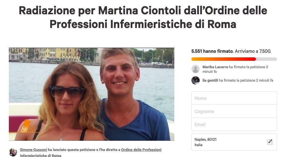 Il giornale infermieristico Nurse Times contro Martina Ciontoli avvia petizione per radiazione dall'Ordine delle Professioni Infermieristiche di Roma