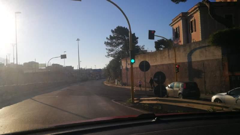 Civitavecchia, parte Photored alle Quattro Porte con la sperimentazione