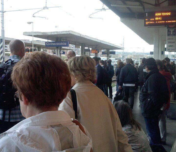 A Civitavecchia arriva il treno per croceristi