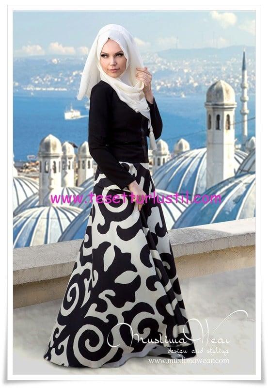 09e1285d995cf Muslima Wear 2014 Tesettür Elbise Modelleri   Tesettürlü Giyim Stilleri