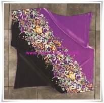 Armine mor-siyah çiçek desenli eşarp-4509