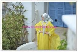 en güzel tesettürlü abiye elbise modelleri