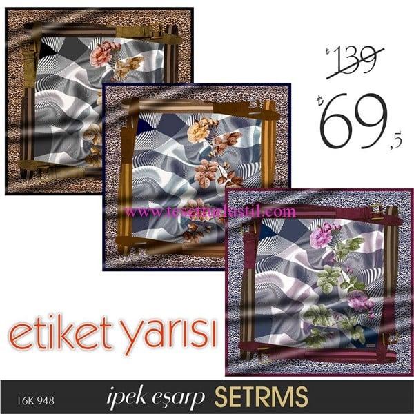 Setrms çiçek desenli eşarp modelleri