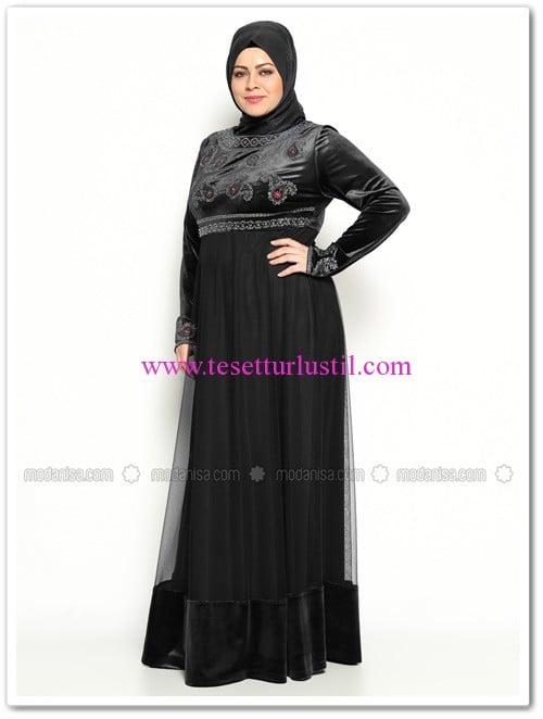 kadife-abiye-elbise-siyah-jazzline-200 TL
