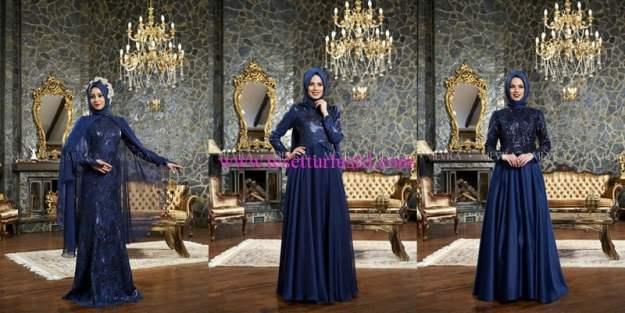Mevra 2016 yeni sezon lacivert abiye elbise modelleri