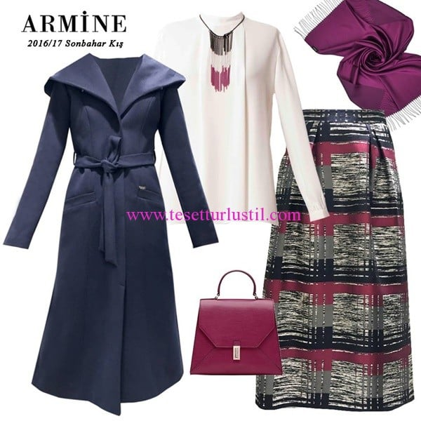 Armine 2017 kışlık kombin modelleri