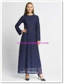 lc waikiki lacivert kapalı elbise