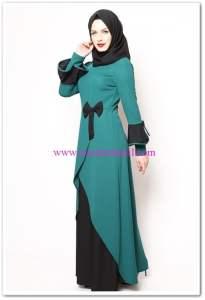 modamerve zümrüt yeşili elbise