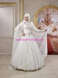 osmanlı moda-OG1507-tesettür gelinlik