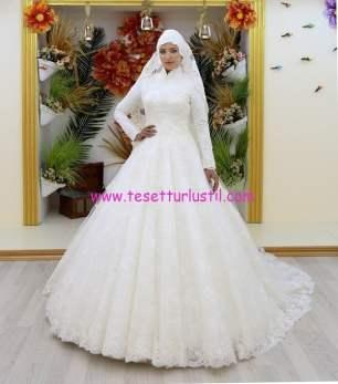 osmanlı moda OG16103-tesettür gelinlik