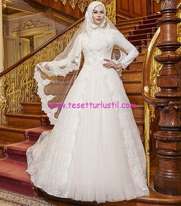 osmanlı moda-OG1646-tesettür gelinlik