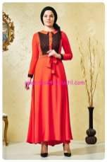 nihan kiremit kuşaklı abiye elbise-150 TL