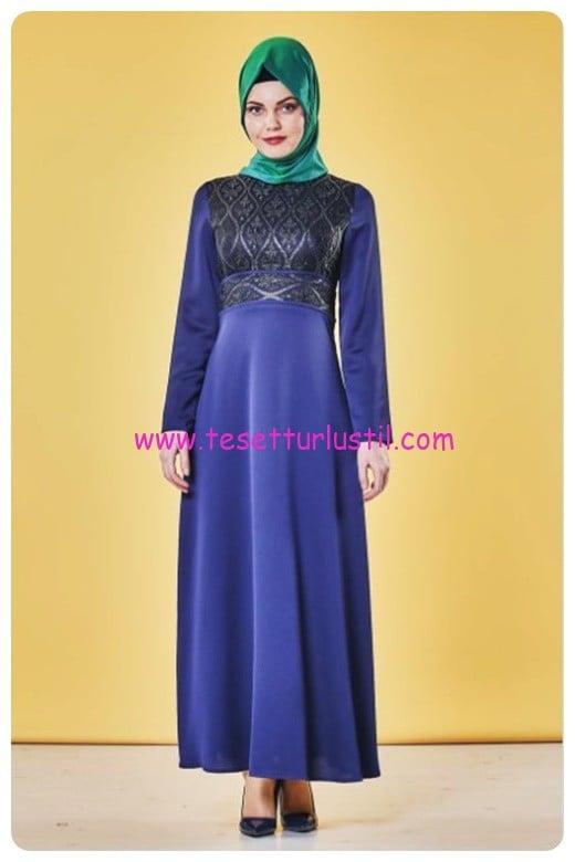 nihan lacivert abiye elbise-185 TL