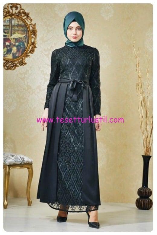 nihan siyah abiye elbise-250 TL