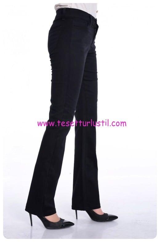 sefamerve siyah likrali boru paca pantolon-40 TL