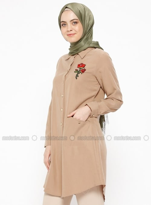 dugmeli-tensel-tunik-camel-cml-collection-80 TL