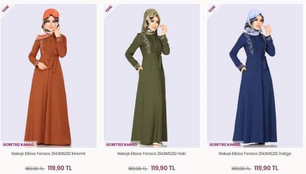 modaselvim nakisli elbise ferace modelleri