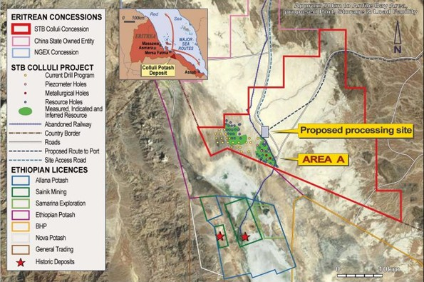 Colluli Potash Project – Plan View