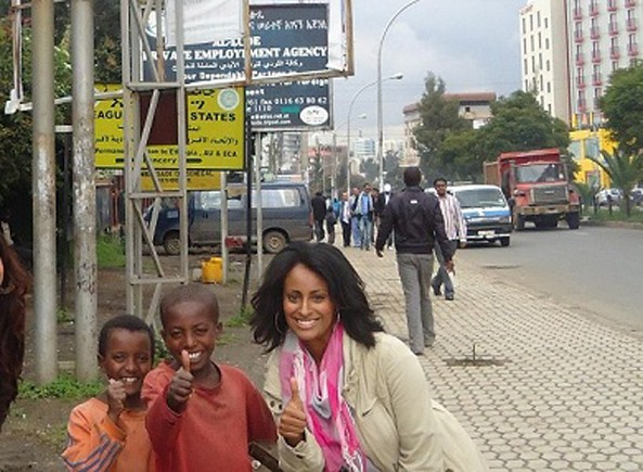 A Picture is worth a thousand words: The new-found anti Eritrea element, Jihan A. Kahssay, strolling on the streets of Addis Ababa