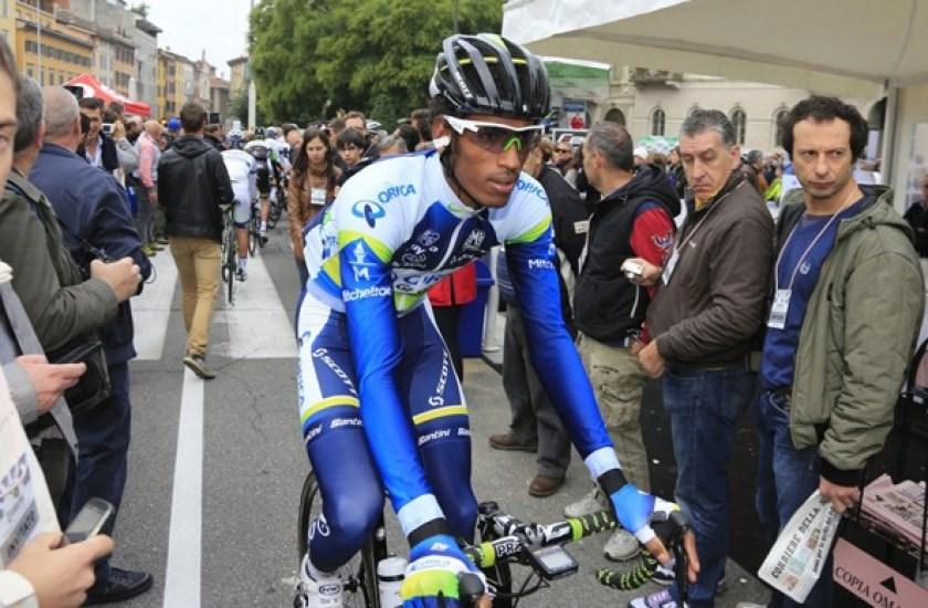 Daniel Teklehaimanot at Il Lombardia