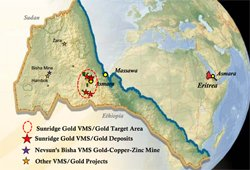 Sunridge Gold strongly focused on bringing the Asmara project into production by 2015