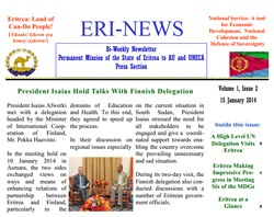 Eritrean Mission to the AU and UNECA released Eri-News 1.22