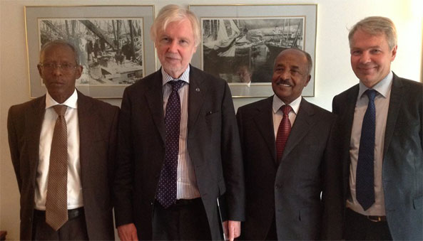 Eritrea Foreign Minister leading higher education delegation meets Finland FM and Cooperation Ministers on Education and Youth