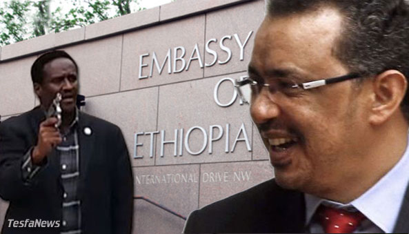 """Diplomats use the """"ammunition"""" of words to resolve disputes, not a .38 caliber rounds. What TPLF Diplomat Gebre Sillasie """"Wedi Weyni"""" did by shooting to kill the unarmed protesters on the embassy grounds will be remembered as an egregious criminal act in the history of the diplomatic corps in Washington, D.C. His case will provide instructional material for students of international law and diplomacy as a special case study of thugplomacy for decades to come."""