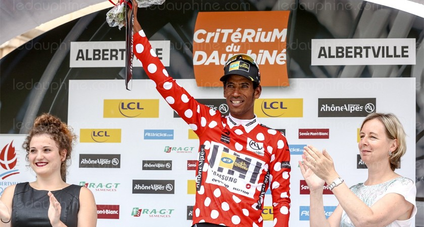 Daniel Teklehaimanot wins first ever World Tour jersey