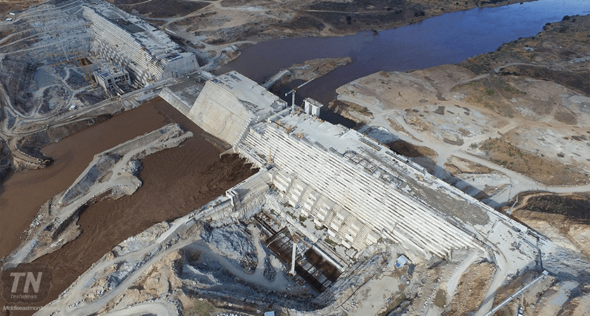 Ethiopian Renaissance Dam on Nile River