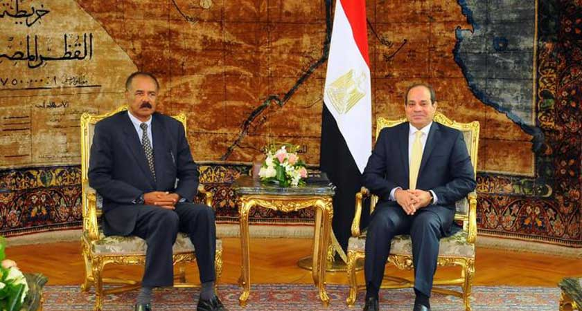 Al-Sisi Meets Eritrean Counterpart to Discuss Means of Developing Bilateral Relations