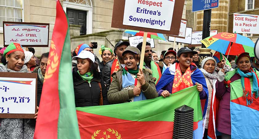 Eritreans Held Successful Demonstration in London UK