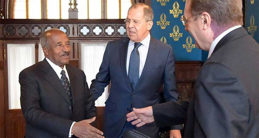 Russia Eritrea meeting in Moscow, Jan 30, 2017