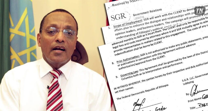 Ethiopian hired SGR LLC Government Relations and Lobbying firm for USD 150,000 per month