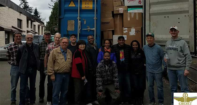 EMENET Ships 3rd Medical Equipment and Supplies Container to Eritrea