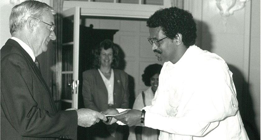 Fessehaie Abraham sworn in as Eritrea's first Ambassador to Australia