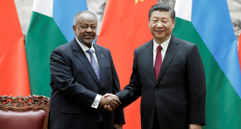 less than silky relations between Beijing and the president of Djibouti