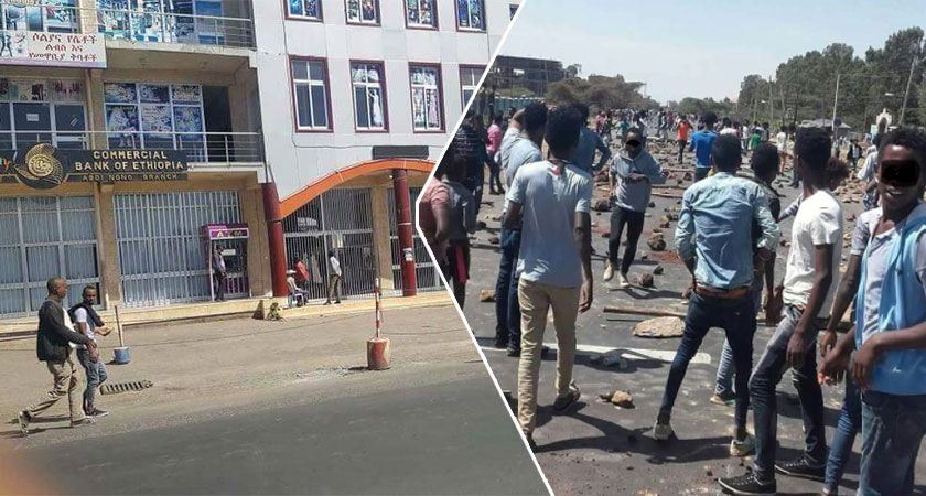 Oromia region of Ethiopia hit by a 3-day general strike and protests