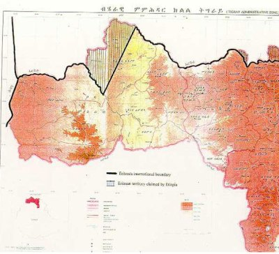 new illegal map of Tigray